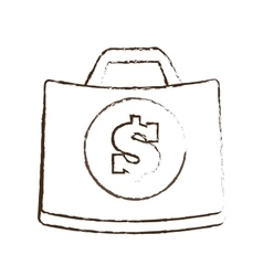 Suitcase money business accessory sketch vector