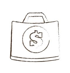 Suitcase money business accessory sketch vector