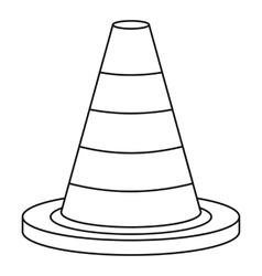Traffic safety cone icon outline style vector