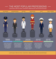 Workers employee and profession infographics vector