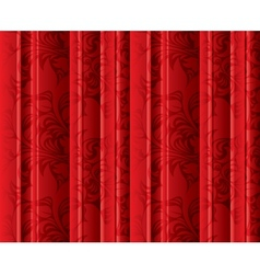 Seamless floral texture on the red curtains vector
