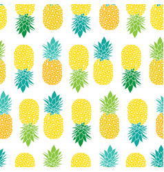 Fresh blue yellow green pineapples repeat vector