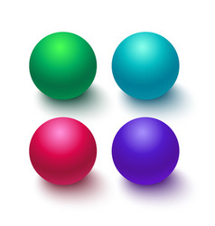 Collection of colorful glossy spheres isolated on vector