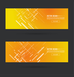Abstract gold header vector