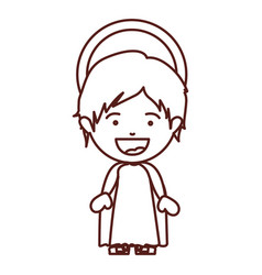 Brown silhouette of child jesus vector