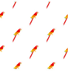 Scarlet macaws pattern seamless vector