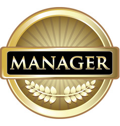 Manager gold label vector