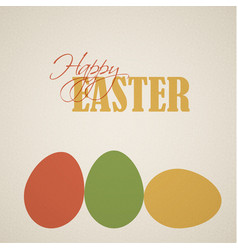 retro easter egg card poster vector image