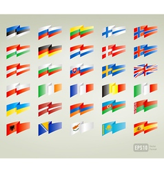Flags set europe vector