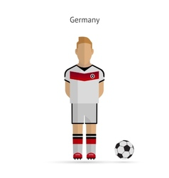 National football player germany soccer team vector