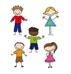 Childrens drawing vector