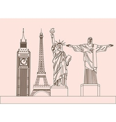 Global sculptures vector