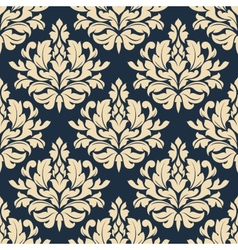 Close up seamless arabesque floral pattern vector