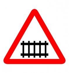 illustration of road sign railroad vector image