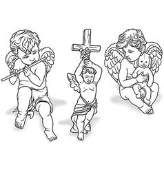 Cherub set vector