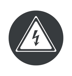 Monochrome round high voltage icon vector