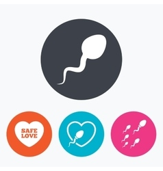 Sperm icons fertilization or insemination signs vector