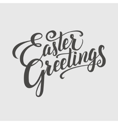 Easter greeting typographical background hand vector