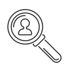 Magnifying glass flat loupe icon vector