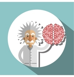 Colorful einstein design over white background vector
