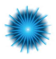 Explosion background with blue colors vector image