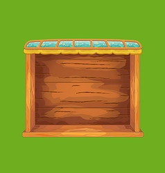 Game wooden shelf window vector