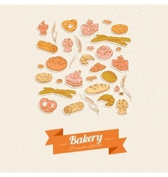 Bread and pastry vector