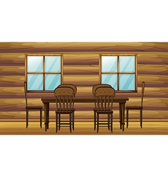 A table and chairs vector