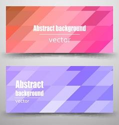 Abstract mosaic Banner vector image vector image