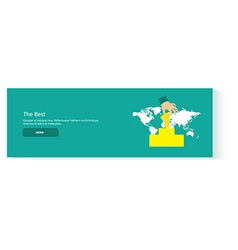 banner the best vector image vector image
