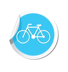 bicycle icon round blue vector image vector image