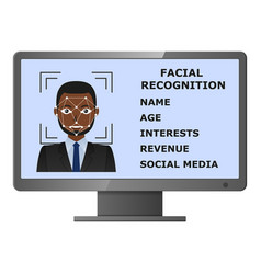 Biometrical identification face recognition vector
