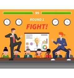 Business competition symbols fight banner vector