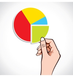Business graph in hand vector