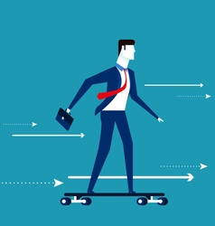 Businessman skateboard vector image