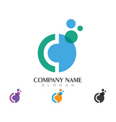 c letter logo business template vector image vector image