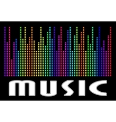 Colorful music spectrum eps 10 vector image