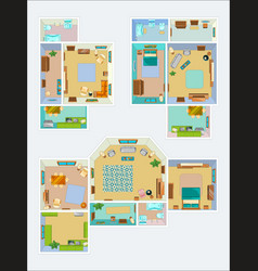 drawings for the layout of the apartment top view vector image vector image