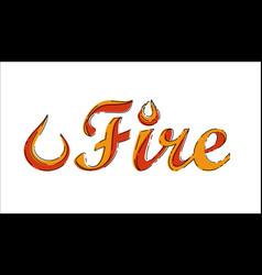 Fire word in mbe style vector