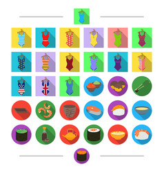 Food seafood clothing and other web icon in vector