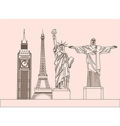Global sculptures vector