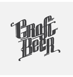 Hand drawn lettering craft beer text vector