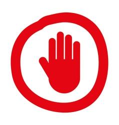 hand stop design vector image