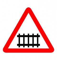 illustration of road sign railroad vector image