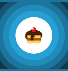 Isolated pastry flat icon dessert element vector