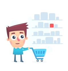 Large selection of items for shopping vector image vector image