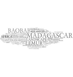 Madagascar word cloud concept vector