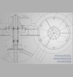 Mechanical engineering drawings gray background vector
