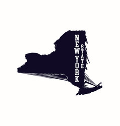 new york state abstract map vector image vector image