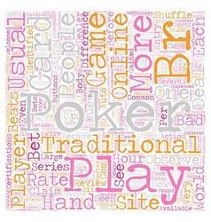 Play online poker 1 text background wordcloud vector